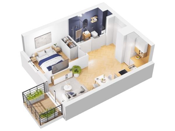 Duninów Residence - wizualizacja mieszkania 024
