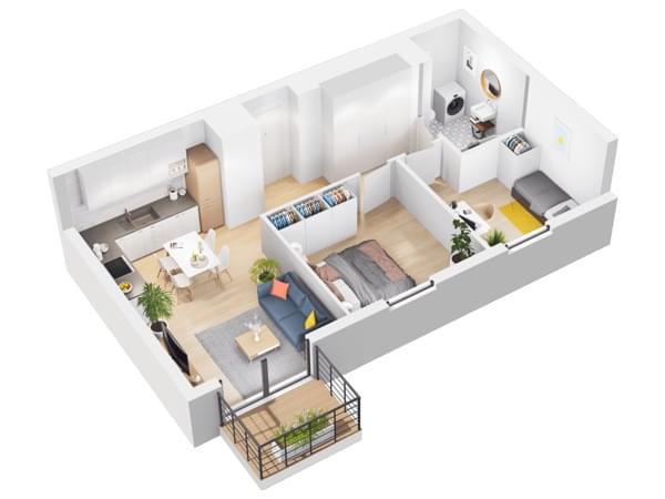 Duninów Residence - wizualizacja mieszkania 052
